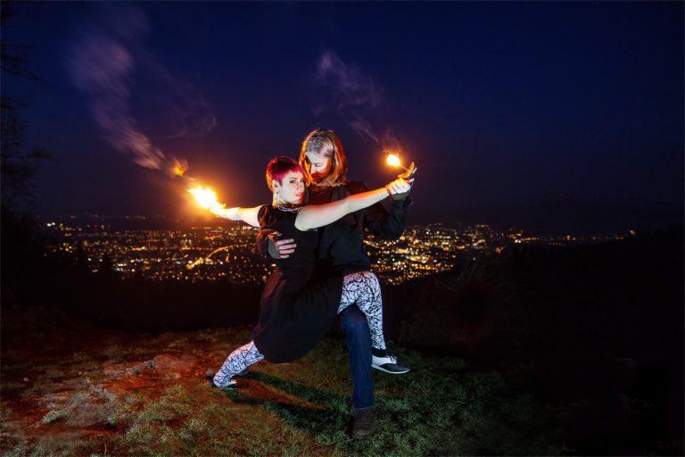 Feuershow mit Paartanz für Ihre Hochzeit als Duo in Schorndorf, Esslingen, Waiblingen und heilbronn jetzt buchen